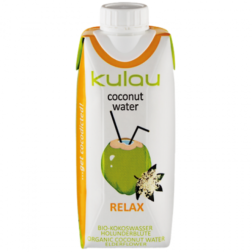 Kulau Kokoswasser Relax mit Holunderblüte 0.33L