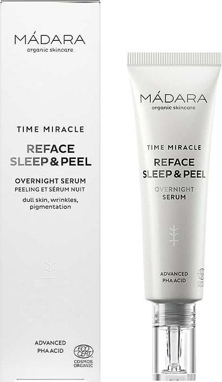 MÁDARA Time Miracle Reface Sleep & Peel Nachtserum 30ml