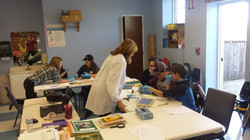 Michele Collard teaching science