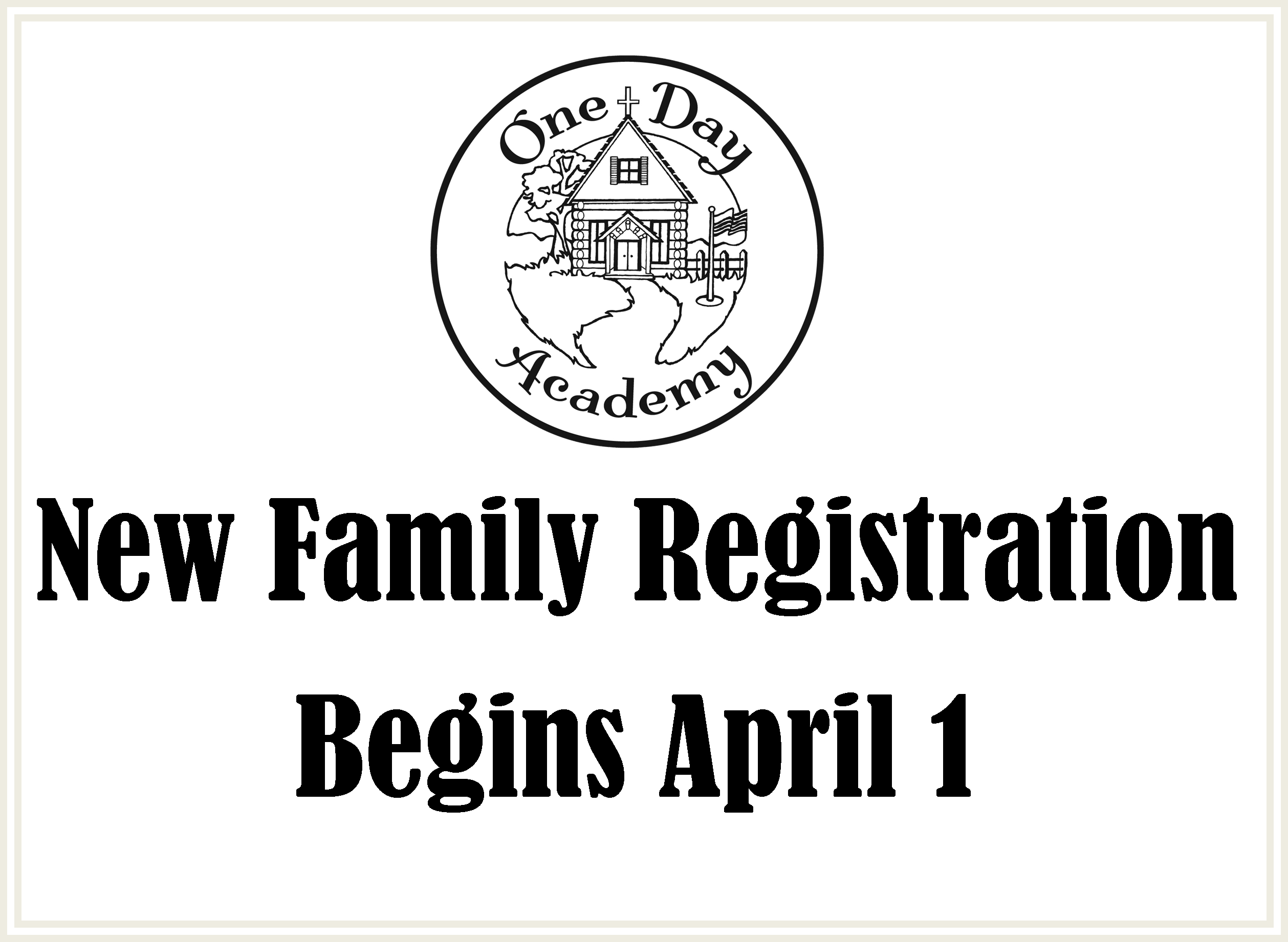 new family reg opens slide