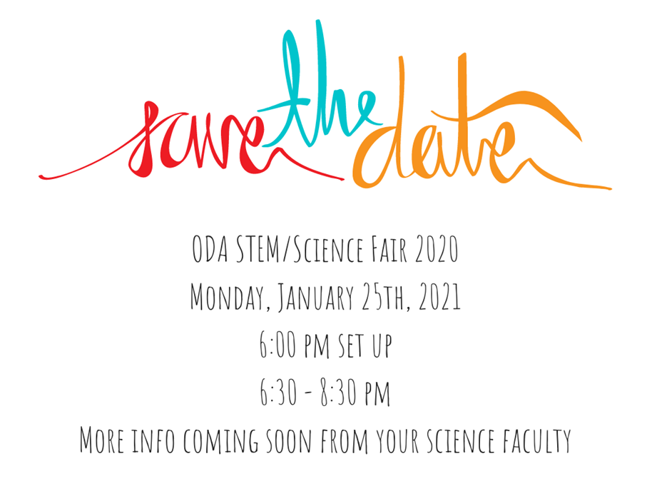 2021 STEM Science Fair save the date