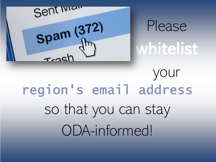 whitelist your regional email