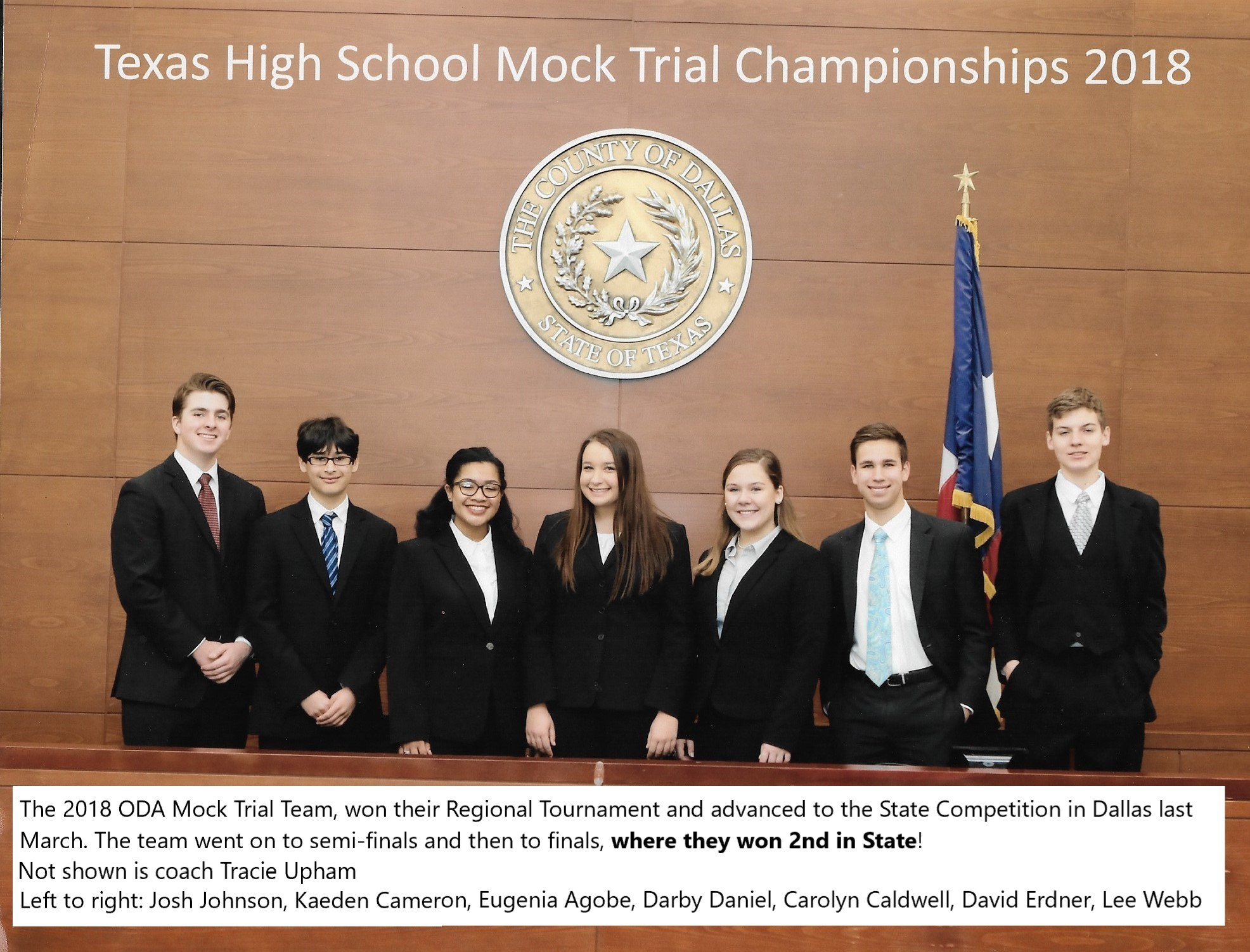Mock trial 2018 team