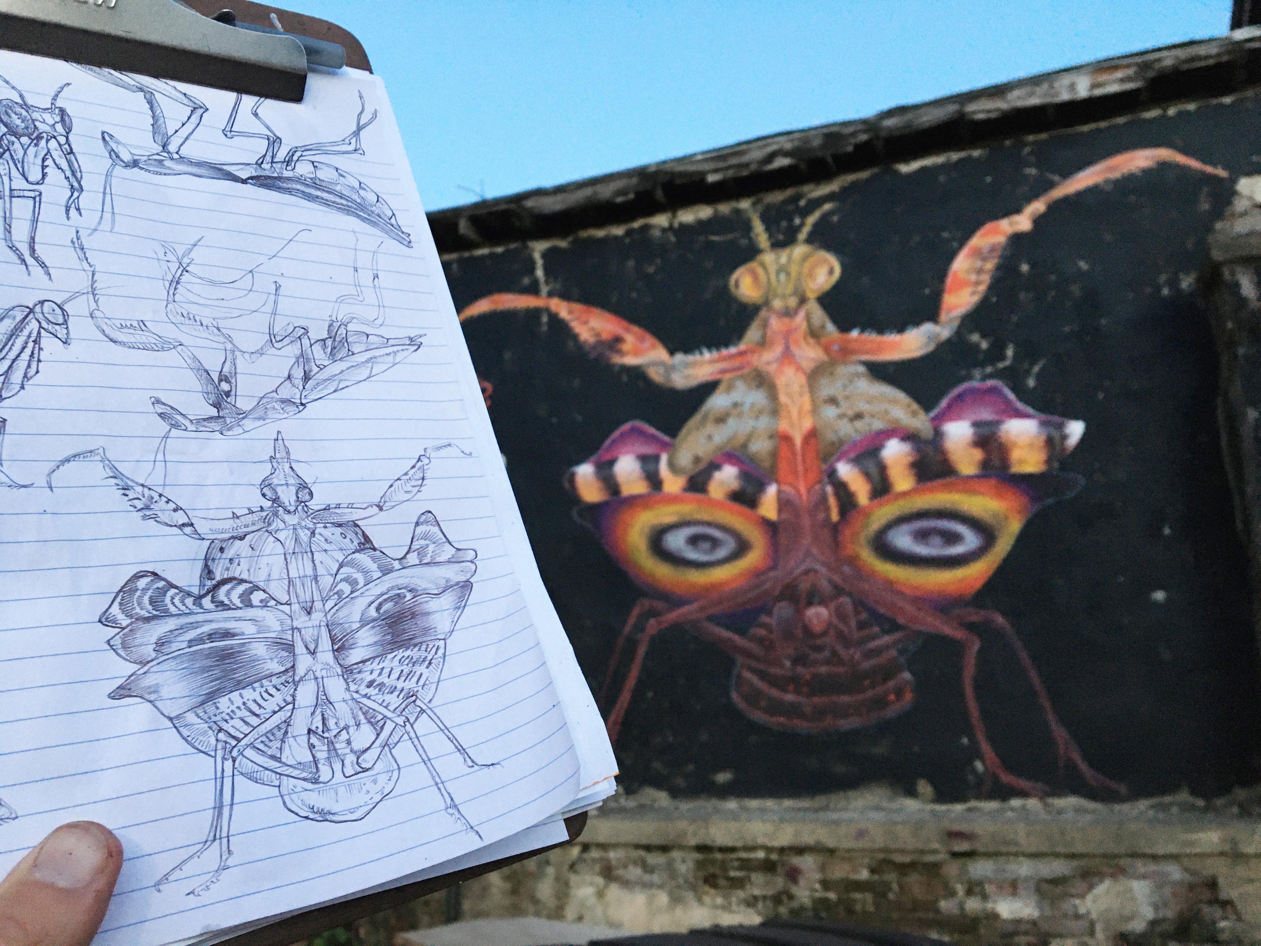 mantis mural in New York