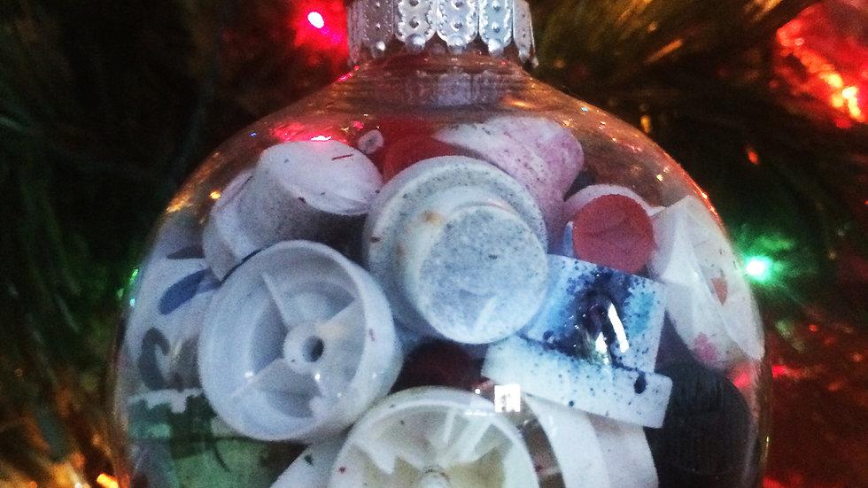 Spray Paint Cap Holiday Ornament