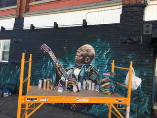 BB King Mural Process Photos