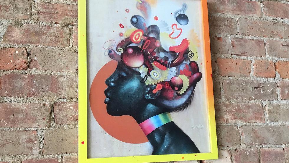 'Bohemian Games' Hand Embellished Custom Frame Print