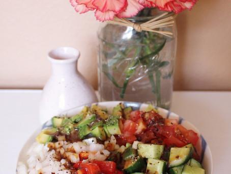 My Vegan Loaded Romaine Salad