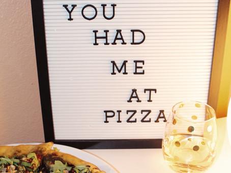 Vegan Pesto Inspired Pizza