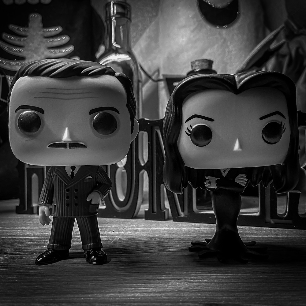 Funko Pop Figure of Gomez Addams and Morticia Addams