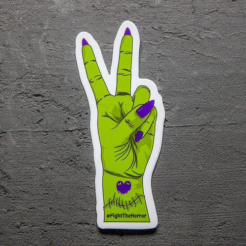 Peace, Love, Not Horror Sticker