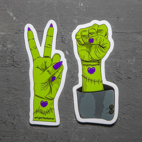 Fight the Horror Sticker Set