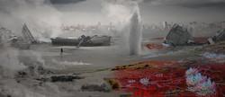 Концепт-арт постапокалиптического Новосибирска