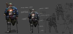 Концепт-арт квестового NPC Старик