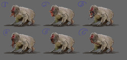 Концепт-арт мутировавших обезьян