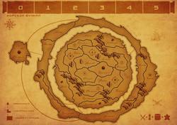 Карта Морской вулкан (3 игрока)