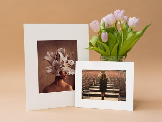 Portraitfotos in Passepartouts