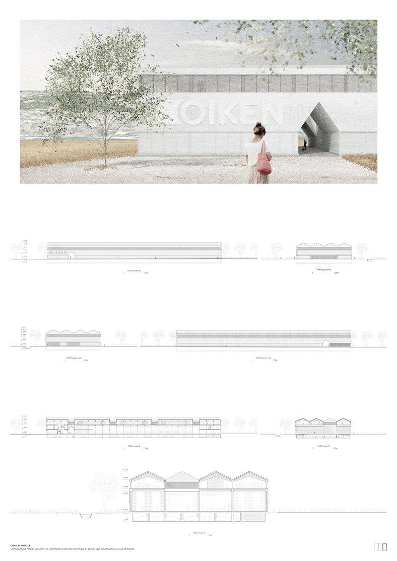 Architecture Concours pour la construction d'un centre technique et logistique pour Oiken à Sierre