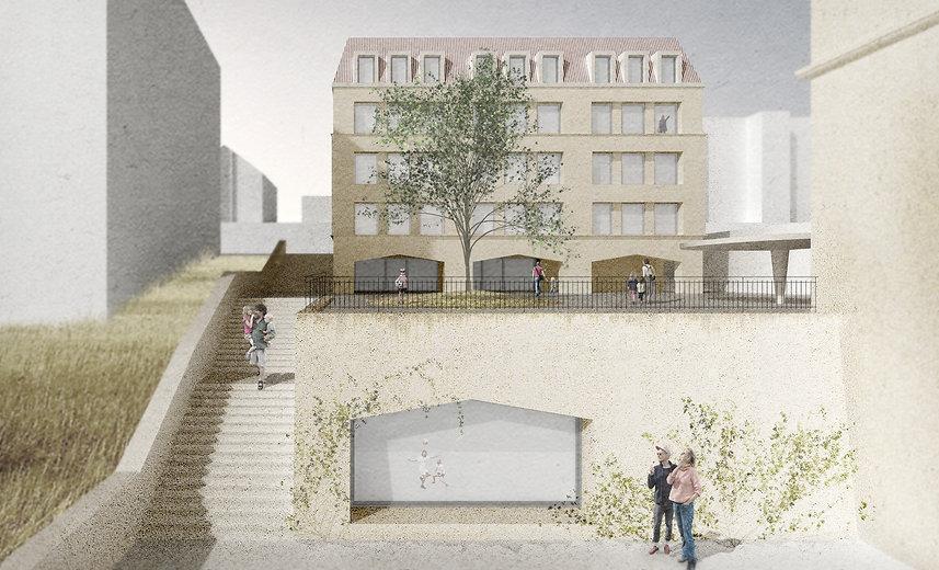 Architecture Concours pour la construction d'une école et de deux salles de gymnastiques à Neuchâtel