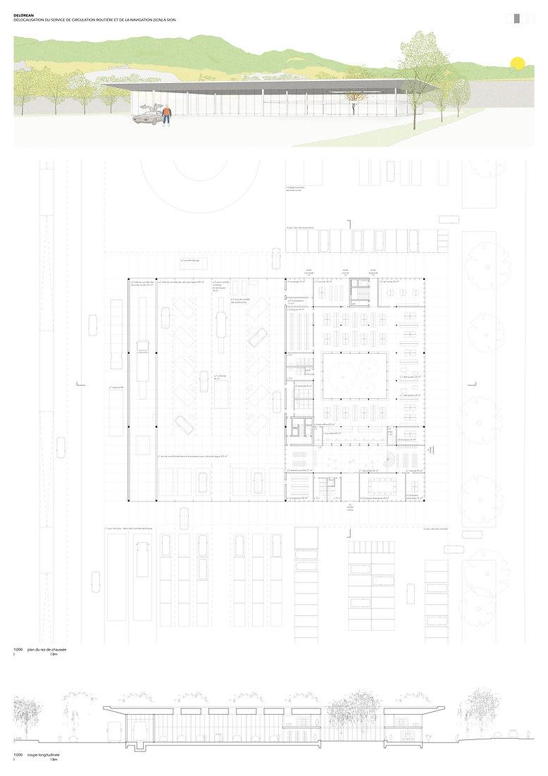 Architecture Concours pour la délocalisation du service de la circulation etnavigation Sion
