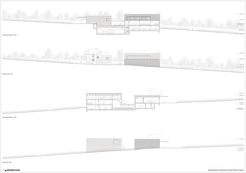 """Architecture Concours pour l'agrandissementdu domaine du""""Gand-brulé"""" Leytron"""