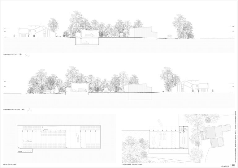 Architecture Concours pour la création d'un centre de voirie et divers locaux Genthod