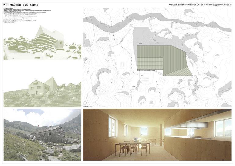 Architecture concours pour la transformation et agrandissement de la cabane du Binntal