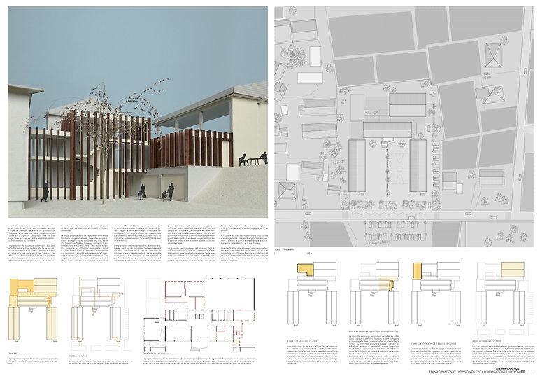 Architecture Concours pour la transformation etl'agrandissement d'un cycle d'orientation Leytron