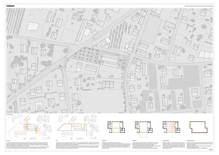 Architecture Concours pour la transformation de la salle de l'abeille Riddes