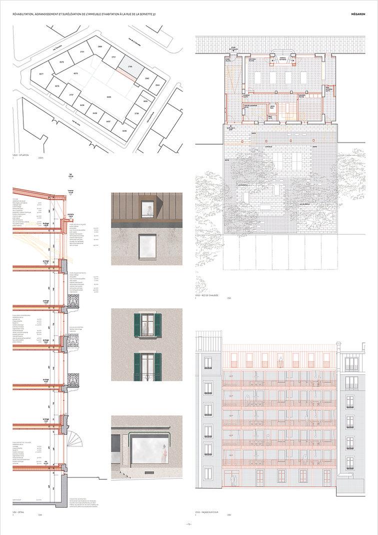 architecture concours pour la transformation d'un immeuble d'habitation
