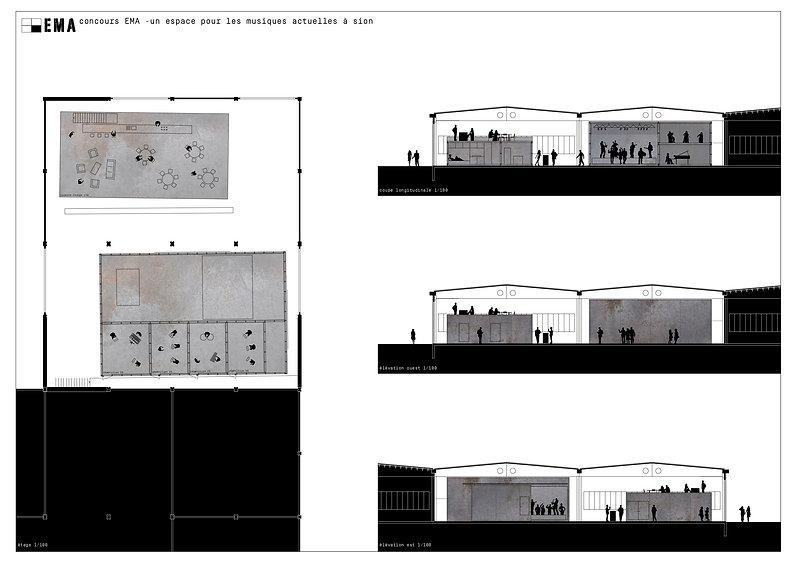 Architecture Concours pour la création d'un espace pour les musiques actuelles Sion