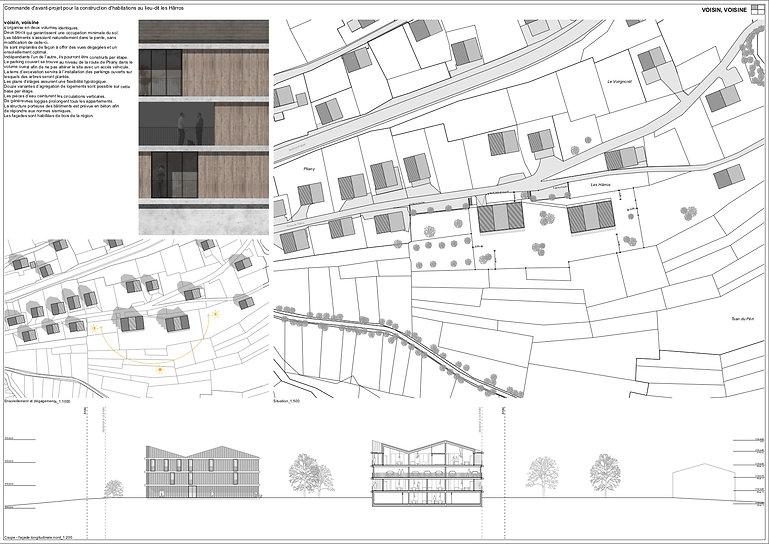 Architecture Concours pour des logements d'habitation Chermigon