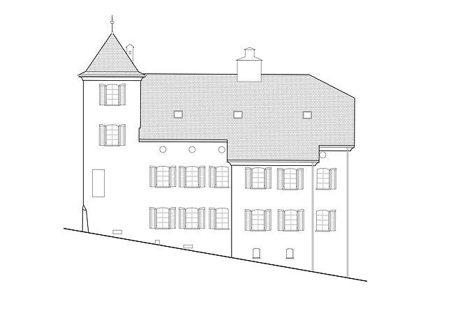 Architecture transforamtion d'un bâtiment en vieille ville sion