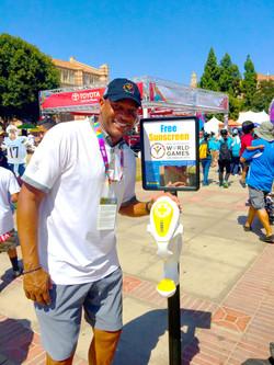 Doc-Rivers-Clippers-Basketball-Special-Olympics-World-Games-Sun-Shield-Sunscreen-Dispenser-Sunblock