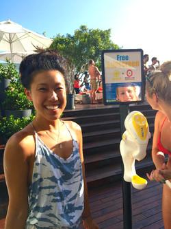 Sky Bar sunscreen dispenser