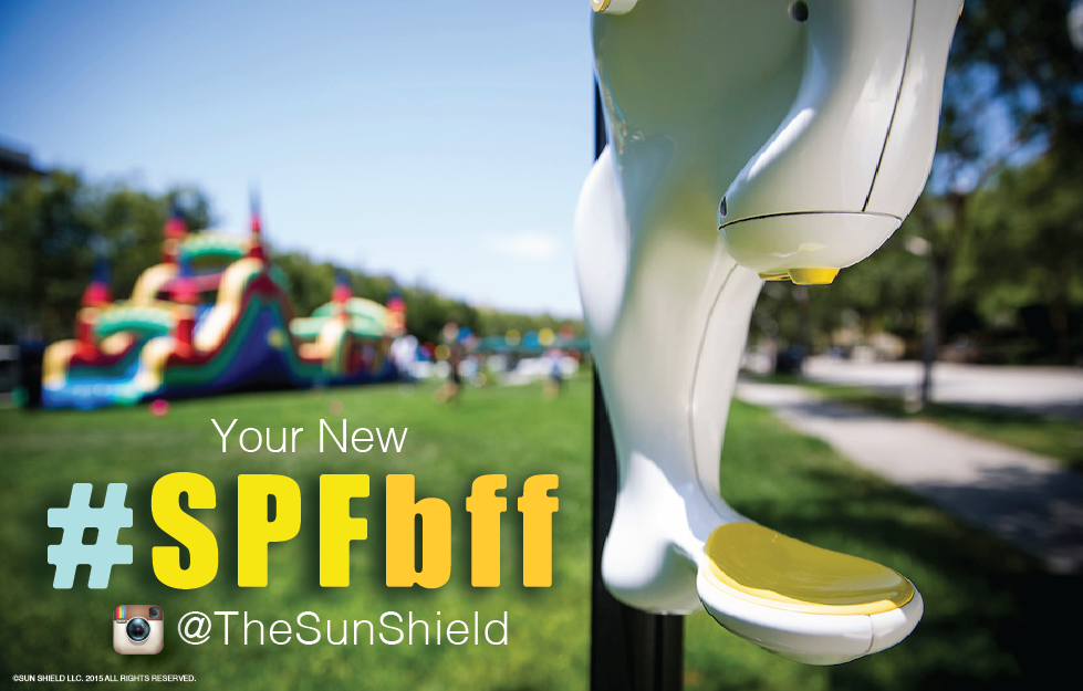 Sun Shield SPFBFF sunscreen dispense
