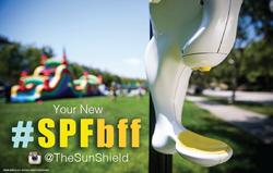 Sun Shield SPFBFF sunscreen dispense