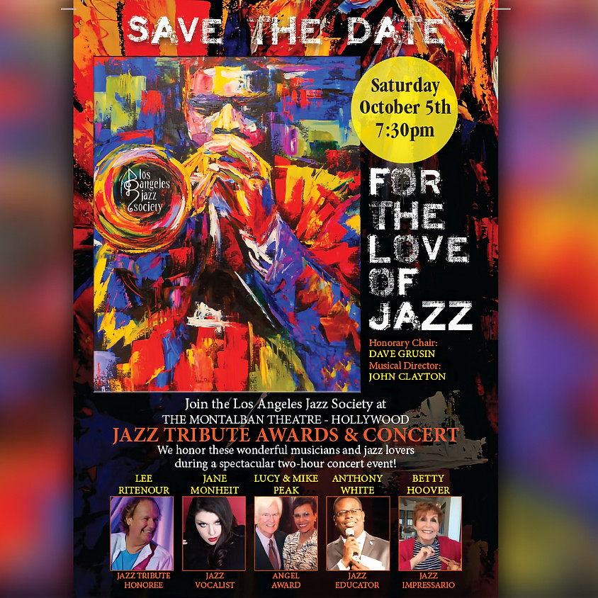 2019 Jazz Tribute Awards & Concert Presented by the LA Jazz Society