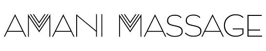 Amani Massage Black - with white backgro