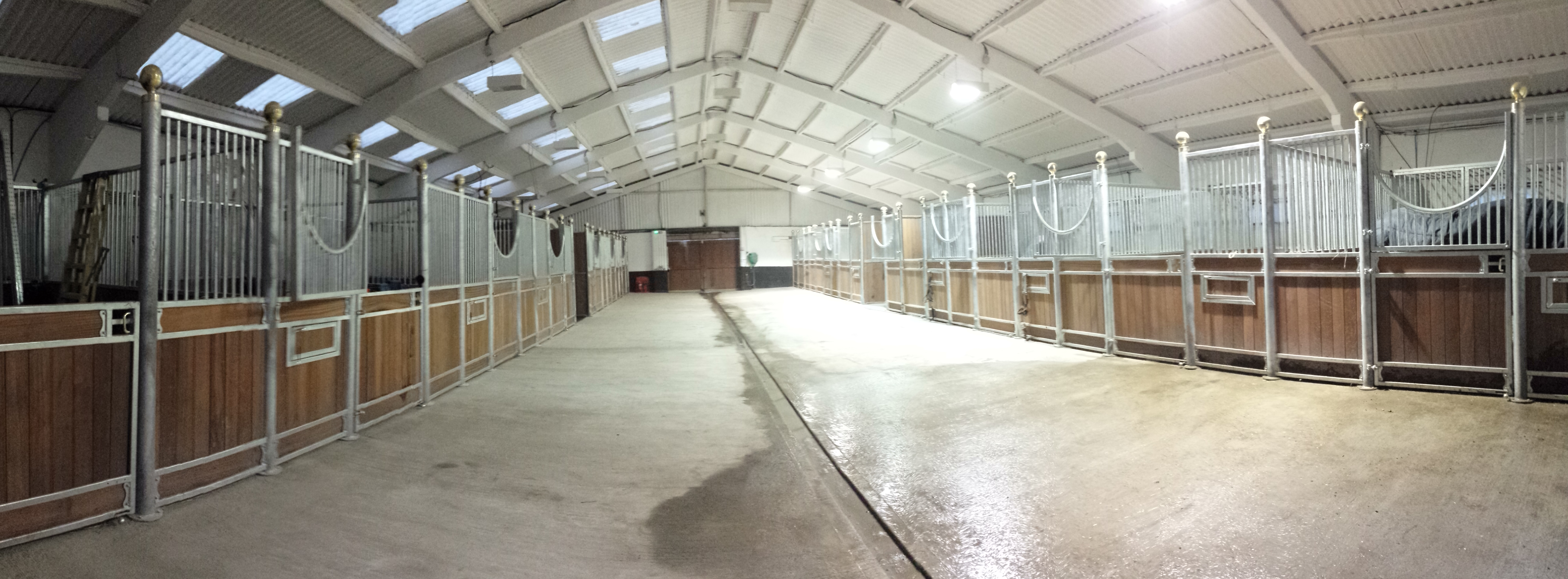 Beautiful indoor stables