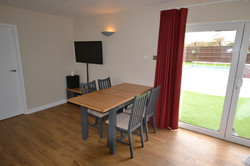 4 Seater dining table and TV area