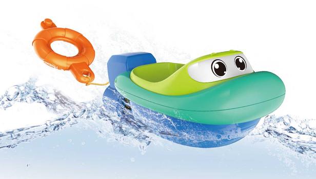 Bathtub Wind-up Lifeboat