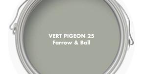 """De la couleur dans son intérieur: le VERT """"Pigeon 25"""" de Farrow & Ball"""