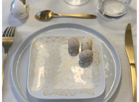 DIY #13: Pâques Composition florale et service à dessert