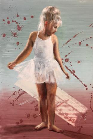 Ballerina i hvitt