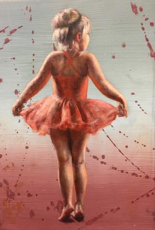 Ballerina i rødt