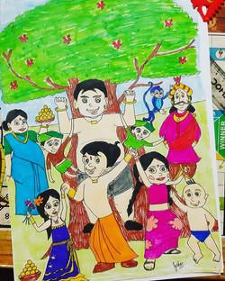 Chhota bheem drawing.