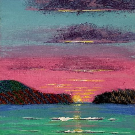 46. Pink Harris Sunset II