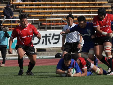 京大ラグビー部出身で初のトップリーガー、小川拓朗選手がデビュー!(R2 小川 拓朗・清水建設ブルーシャークス)
