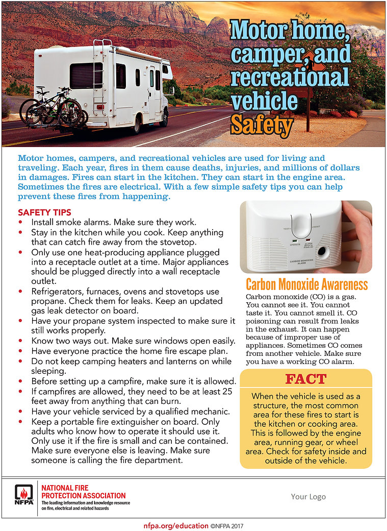 motor home/camping safety